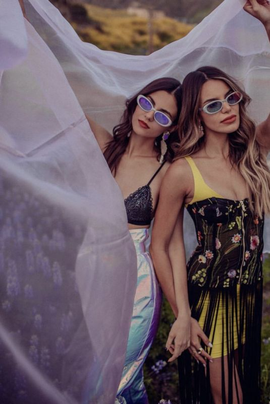 VICTORIA JUSTICE and MADISON REED at a Photoshoot in Malibu, March 2019