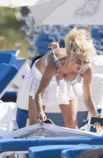 VICTORIA SILVSTEDT in Bikini on the Beach in Miami 04/02/2019
