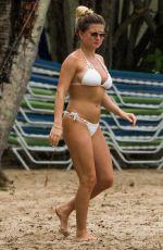 ZARA HOLLAND in White Bikini at a Beach in Barbados 04/15/2019