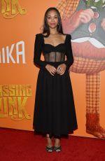 ZOE SALDANA at Missing Link Premiere in New York 04/07/2019