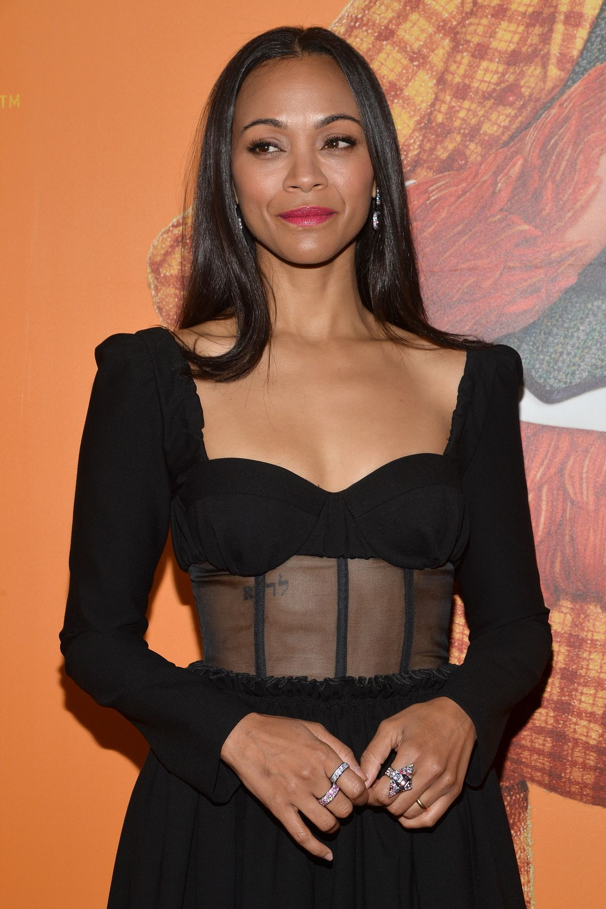 ZOE SALDANA at Missing Link Premiere in New York 04/07 ...
