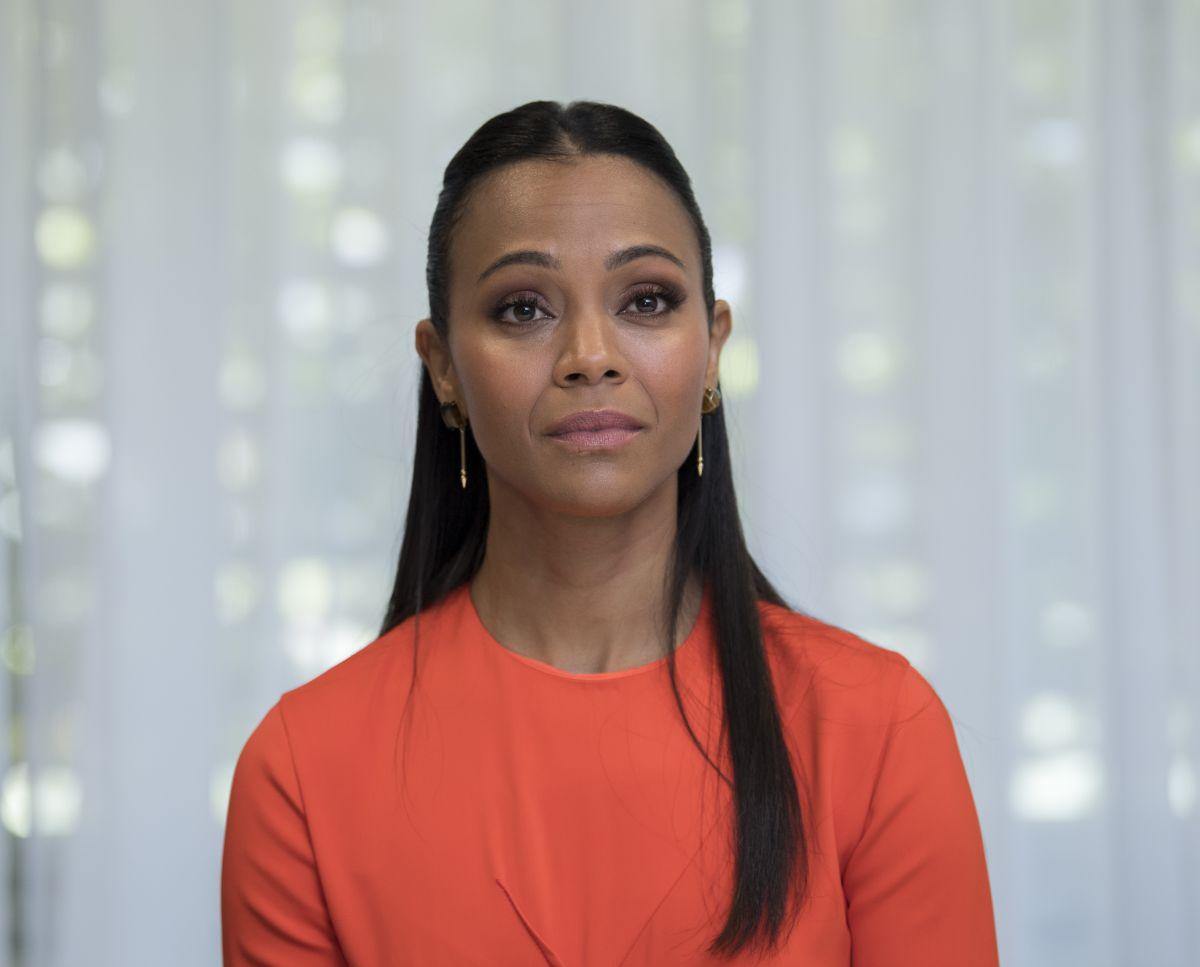 ZOE SALDANA at The Missing Link Press Conference in ...