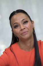ZOE SALDANA at The Missing Link Press Conference in Beverly Hills 03/30/2019