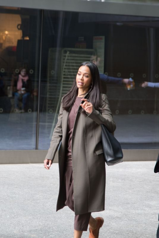 ZOE SALDANA Out and About in New York 04/07/2019