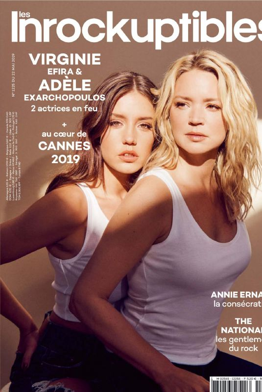 ADELE EXARCHOPOULOS and VRGINIE EFIRA in Les Inrockuptibles, May 2019
