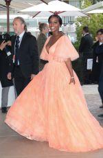 AJA NAOMI KING Leaves Hotel Martinez in Cannes 05/19/2019