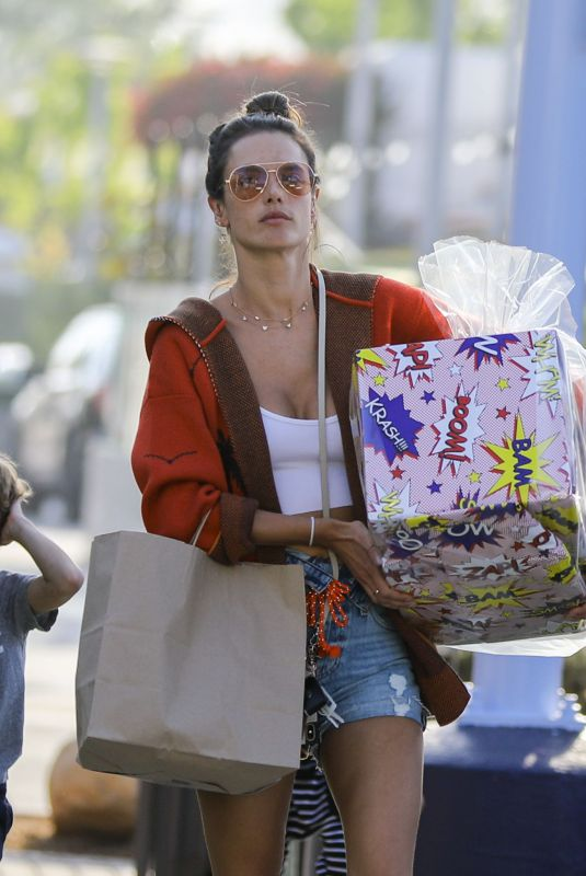 ALESSANDRA AMBROSIO Shopping for Mother