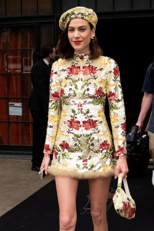 ALEXA CHUNG Leaves Bowery Hotel in New York 05/06/2019