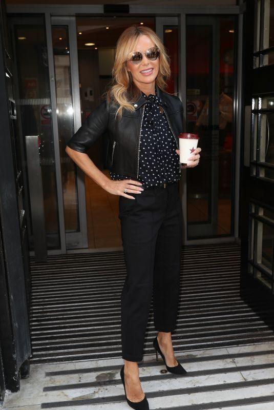 AMANDA HOLDEN Arrives at Zoe Ball Breakfast Show in London 05/24/2019