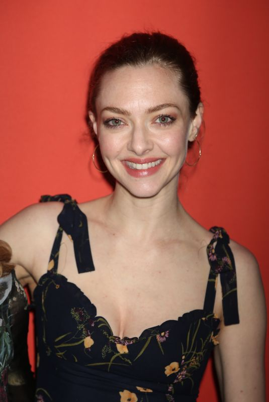 AMANDA SEYFRIED at Second Stage Theater 40th Birthday Gala in New York 05/06/2019