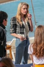 AMBER HEARD at Martinez Beach in Cannes 05/16/2019