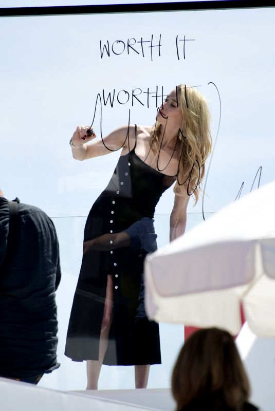 AMBER HEARD on the Set of a Photoshoot at Cannes Film Festival 05/16/2019