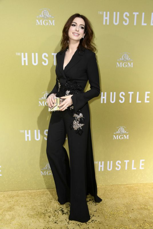 ANNE HATHAWAY at The Hustle Premiere in Hollywood 05/08/2019
