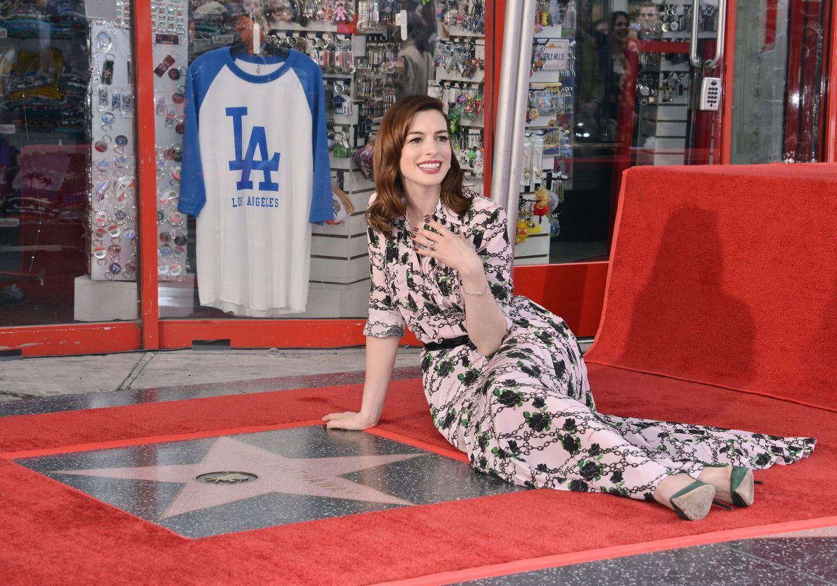 ANNE HATHAWAY Honored With A Star On The Hollywood Walk Of