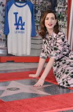 ANNE HATHAWAY Honored with a Star on the Hollywood Walk of Fame 05/09/2019