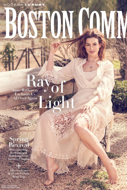 ANNE HATHAWAY in Boston Common Magazine, May 2019