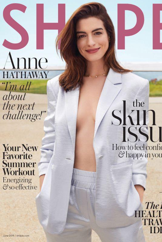 ANNE HATHAWAY in Shape Magazine, June 2019