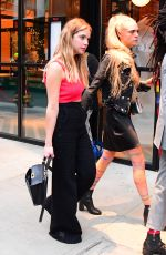 ASHLEY BENSON and CARA DELEVINGNE Leaves Met Gala After-party 05/07/2019