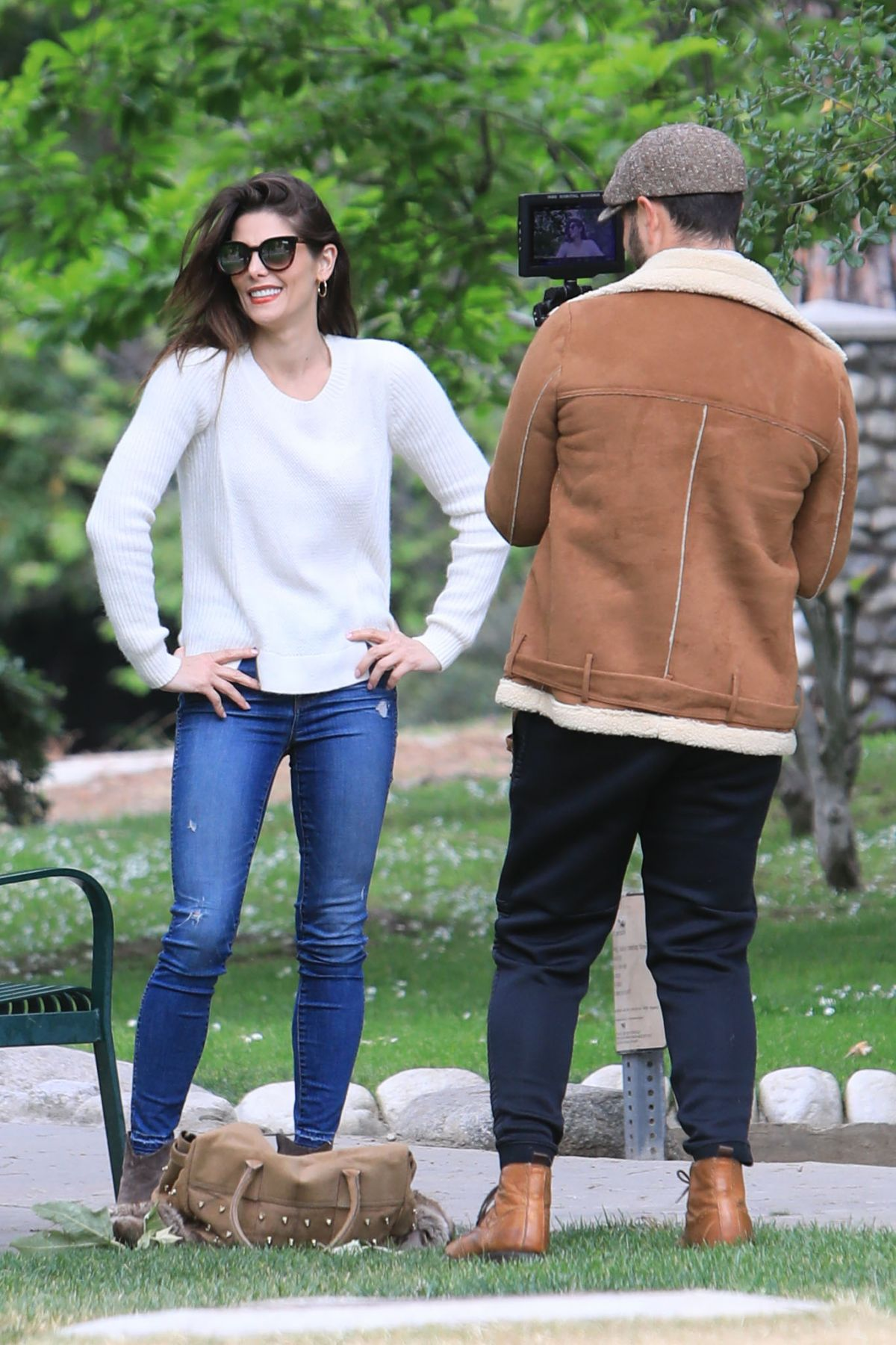 ASHLEY GREENE at a Park in Beverly Hills 05/07/2019 ...