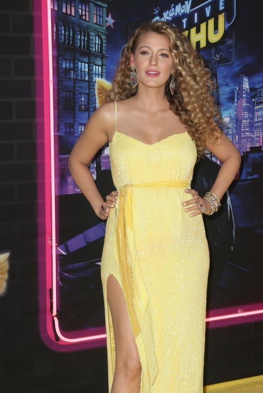 BLAKE LIVELY at Pokemon: Detective Pikachu Premiere in New York 05/02/2019