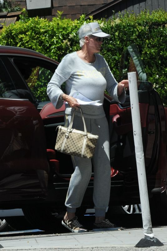 BRIGITTE NIELSEN Out in Los Angeles 05/24/2019