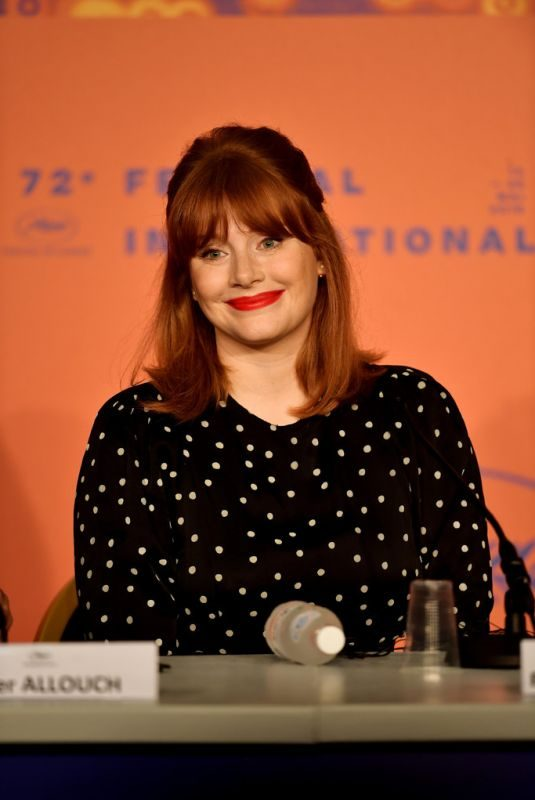 BRYCE DALLAS HOWARD at Rocketman Press Conference at Cannes Film Festival 05/17/2019