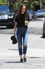 CARA SANTANA in Ripped Denim Out and About in Hollywood 05/24/2019