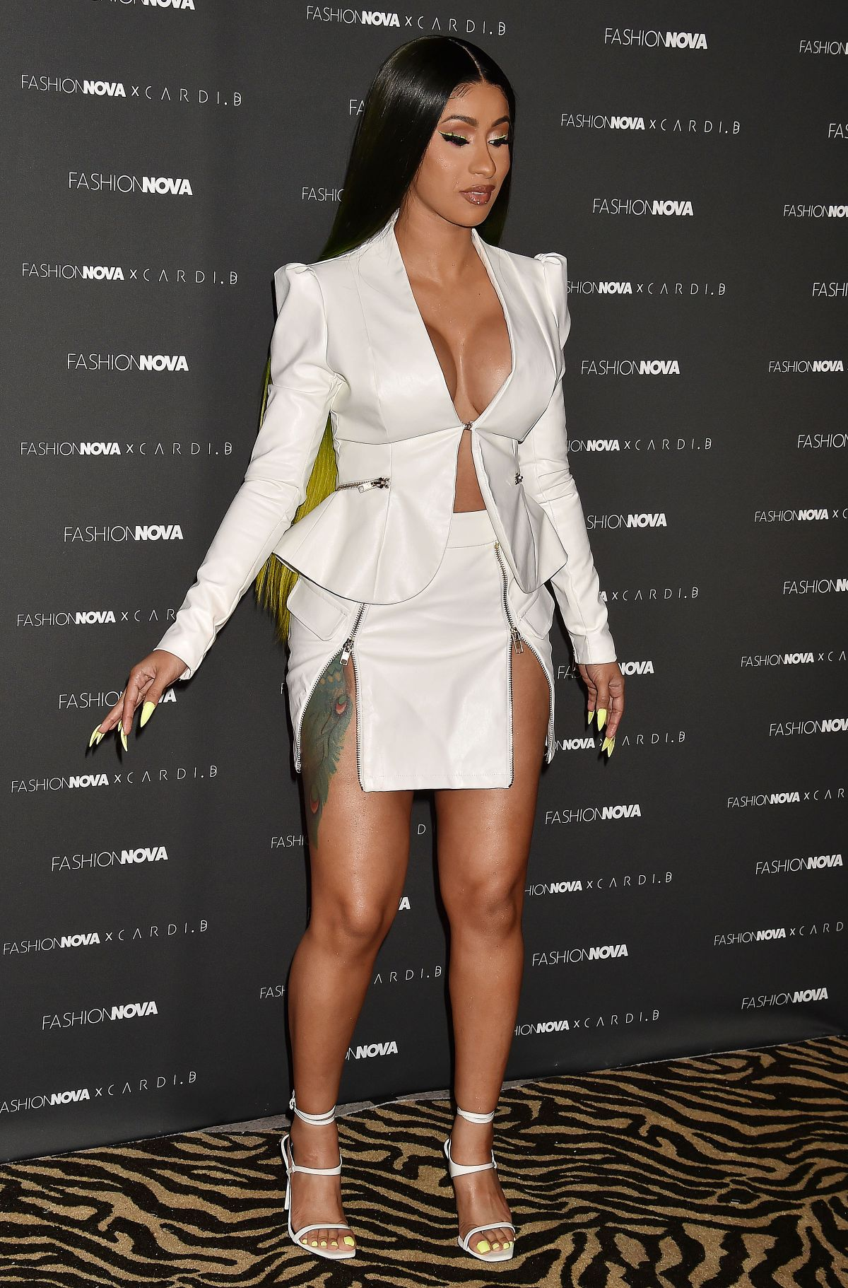 Cardi B Outfits: CARDI B At Fashion Nova X Cardi B Collection Launch At