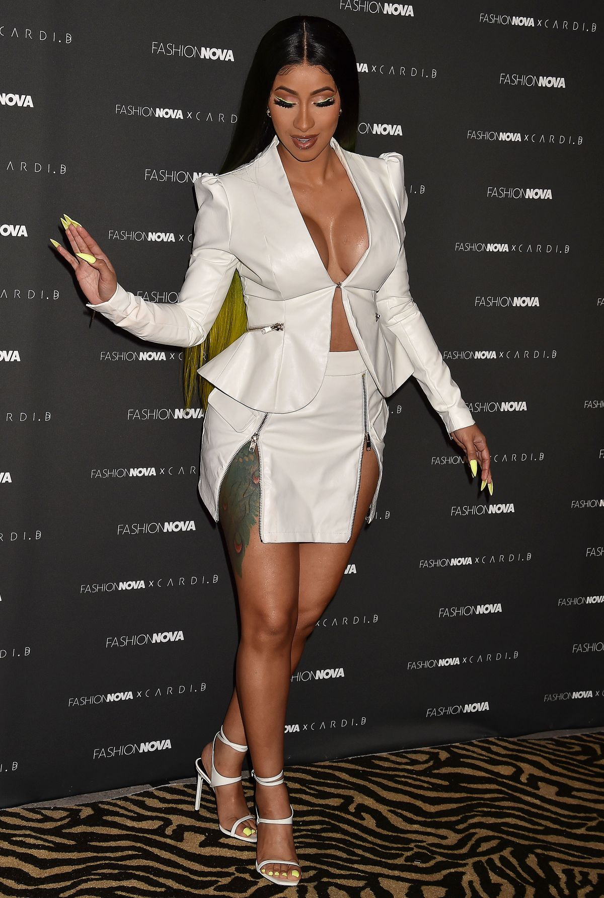 Cardi B No Clothing: CARDI B At Fashion Nova X Cardi B Collection Launch At