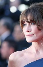 CARLA BRUNI at Les Miserables Screening at 2019 Cannes Film Festival 05/15/2019