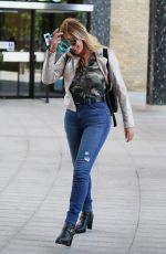 CAROL VORDERMAN in Tight Denim Arrives at ITV Studios in London 05/30/2019