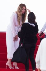 CAROLINE RECEVEUR on the Set of a Photoshoot in Cannes 05/19/2019