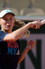 CAROLINE WOZNIACKI Practices at Roland Garros French Open Tournamet 05/24/2019