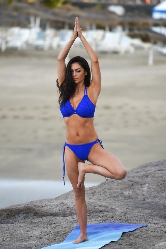 CASEY BATCHELOR in Bikini for Her Yoga Blitz App in Tenerife 05/03/2019