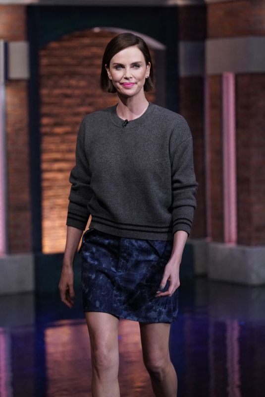 CHARLIZE THERON at Late Night with Seth Meyers in New York 05/01/2019