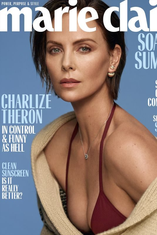 CHARLIZE THERON in Marie Claire, June 2019