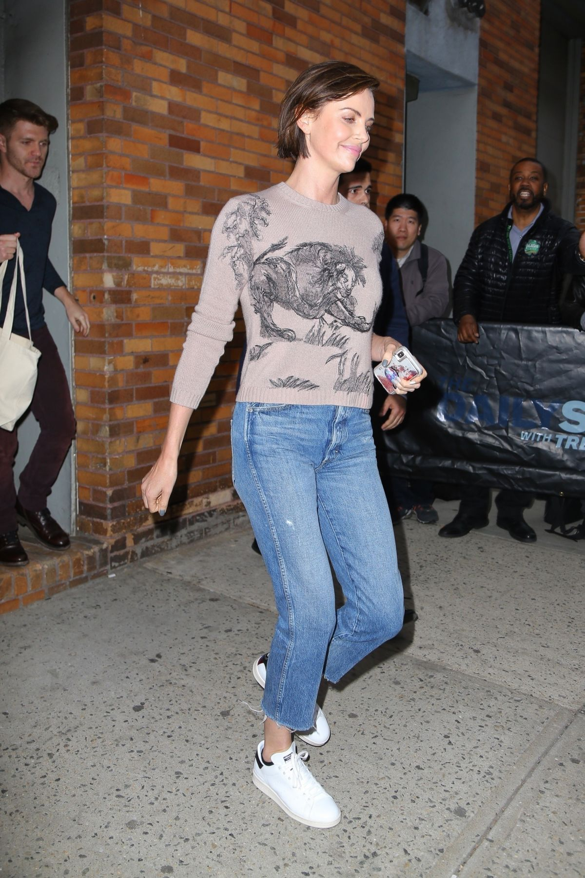 charlize theron leaves daily show in new york 05 02 2019. Black Bedroom Furniture Sets. Home Design Ideas