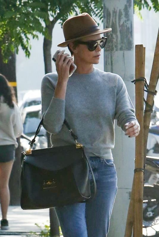 CHARLIZE THERON Out and About in Hollywood 05/03/2019