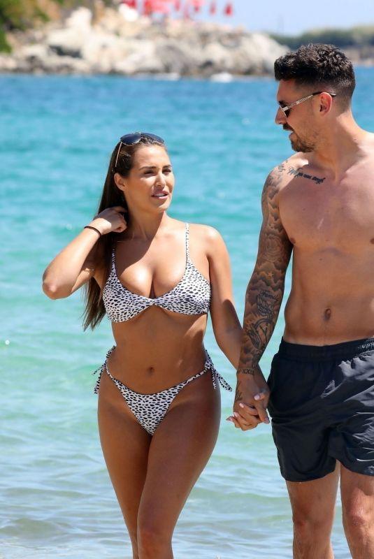 CHLOE GOODMAN in Bikini at a Beach in Mykonos 05/16/2019
