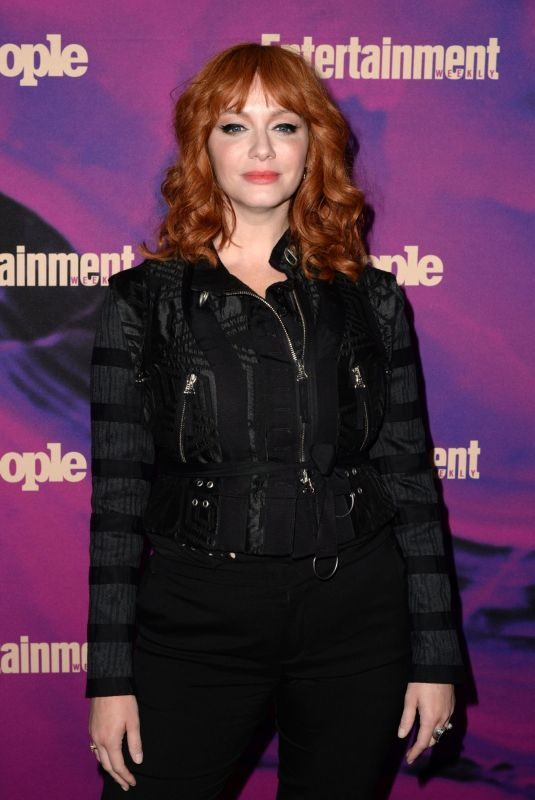 CHRISTINA HENDRICKS at Entertainment Weekly & People New York Upfronts Party 05/13/2019