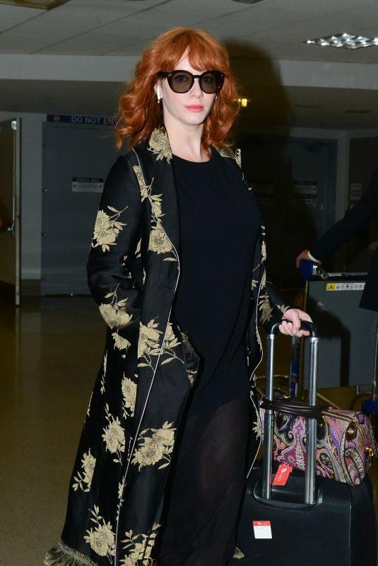 CHRISTINA HENDRICKS at LAX Airport in Los Angeles 05/14/2019