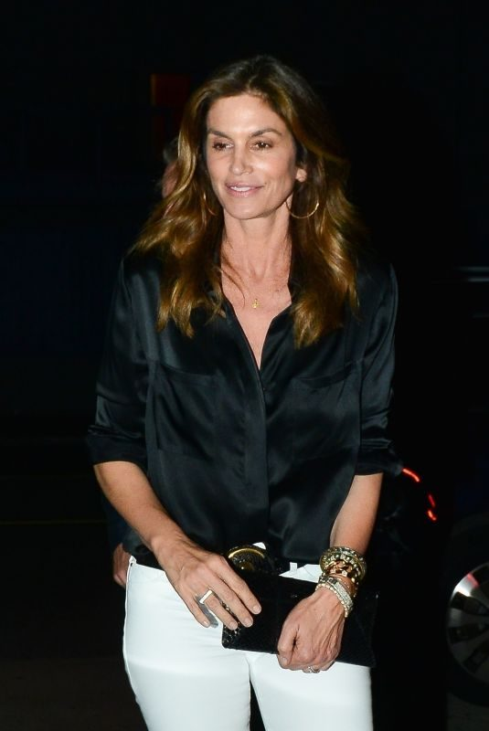 CINDY CRAWFORD Night Out in Santa Monica 05/25/2019