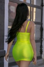 CLAUDIA ALENDE in Tight Dress Out in Los Angeles 05/20/2019