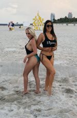 CLAUDIA ROMANI and JESS PICADO at a Photoshoot for Iapparel 05/13/2019