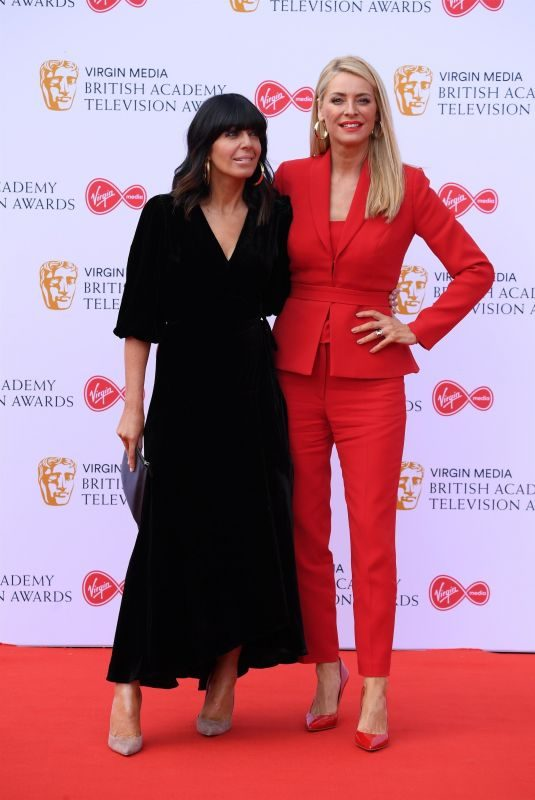 CLAUDIA WINKLEMAN and TESS DALY at Virgin Media British Academy Television Awards 2019 in London 05/12/2019