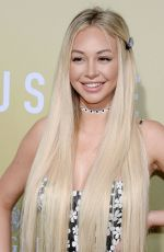 CORINNE OLYMPIOS at The Hustle Premiere in Los Angeles 05/08/2019