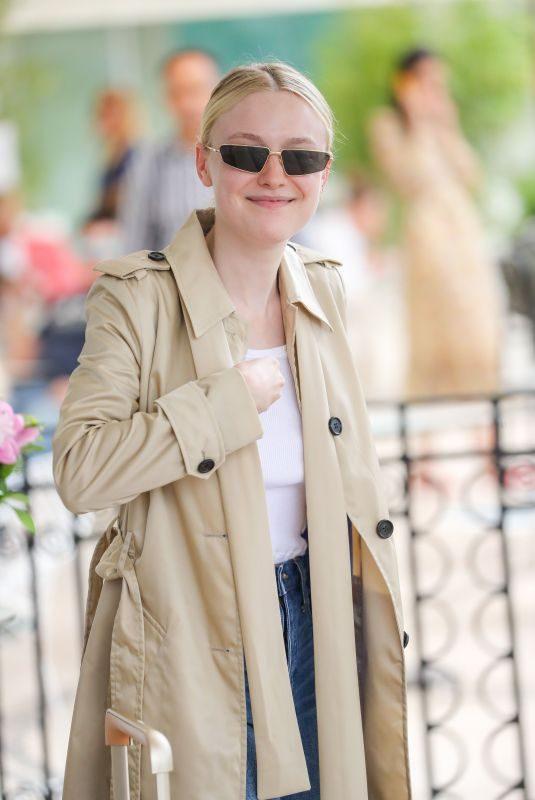 DAKOTA FANNING Leaves Martinez Hotel in Cannes 05/22/2019