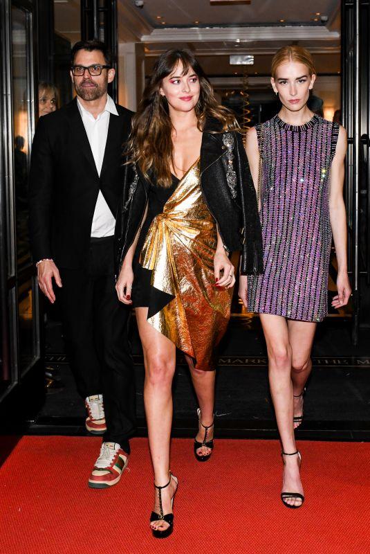 DAKOTA JOHNSON Heading to Gucci Party in New York 05/07/2019