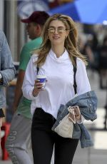 DELTA GOODREM and Matthew Copley Out for Coffee in Los Angeles 05/01/2019