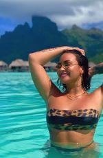 DEMI LOVATO in Bikini on Vacation in Bora Bora, May 2019